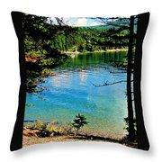 Bitterroot Lake Throw Pillow