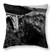 Bixby Black And White Throw Pillow by Benjamin Yeager