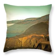 Bixby Bridge Digital Throw Pillow