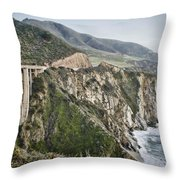 Bixby Bridge Vista Throw Pillow