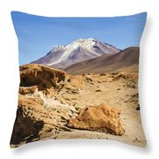 Bizarre Landscape Bolivia Throw Pillow