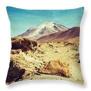 Bizarre Landscape Bolivia Old Postcard Throw Pillow