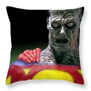 Bizarro Throw Pillow by Gabe Arroyo