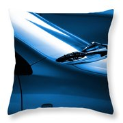 Black And Blue Cars Throw Pillow by Carlos Caetano