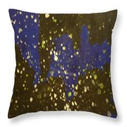 Black And Blue Splatter Throw Pillow