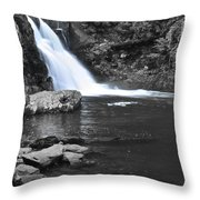 Black And Color Waterfall Throw Pillow