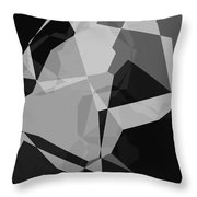 Black And Grey Abstract Throw Pillow