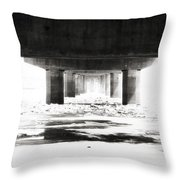 Black And Ice Throw Pillow
