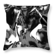 Black And Indeed White Throw Pillow
