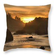 Black And Orange Throw Pillow by Adam Jewell