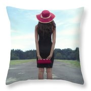 Black And Red Throw Pillow by Joana Kruse