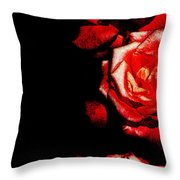 Black And Rose Throw Pillow
