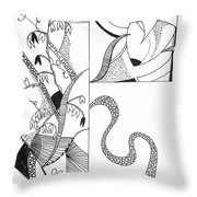 Black And White Abstract #2 Throw Pillow