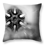 Black And White Abstract Burst Throw Pillow