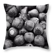 Black And White Acorns Throw Pillow
