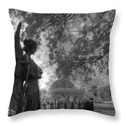 Black And White Angel Throw Pillow