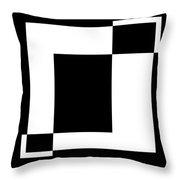 Black And White Art - 128 Throw Pillow