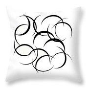 Black And White Art - 133 Throw Pillow