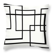 Black And White Art - 146 Throw Pillow