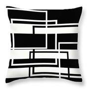 Black And White Art - 151 Throw Pillow
