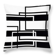 Black And White Art - 152 Throw Pillow