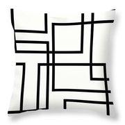 Black And White Art - 156 Throw Pillow