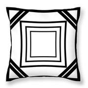 Black And White Art 175 Throw Pillow