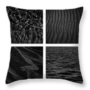 Black And White Beach Throw Pillow