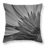 Black And White Blossom Throw Pillow