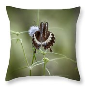 Black And White Butterfly V2 Throw Pillow