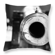 Black And White Cannon Throw Pillow