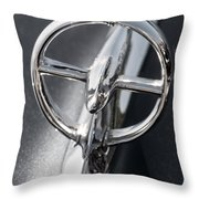 Black And White Car Logo Throw Pillow