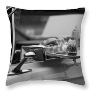 Black And White Carhop Throw Pillow