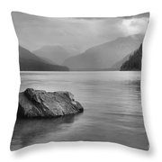Black And White Cheakamus Lake Throw Pillow