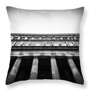 Black And White Chicago Union Station Throw Pillow