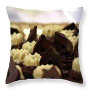 Black And White Chocolate Throw Pillow