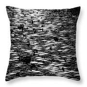 Black And White Cobblestone Pattern Throw Pillow