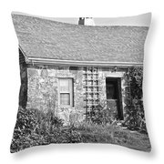 Black And White Cottage Throw Pillow