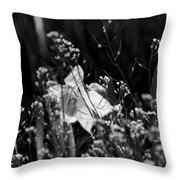 Black And White Daffodil Throw Pillow