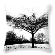 Black And White  Throw Pillow