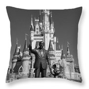 Black And White Disney And Mickey Throw Pillow