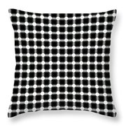 Black And White Dots Throw Pillow by Daniel Hagerman