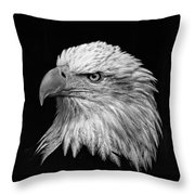 Black And White Eagle Throw Pillow