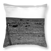 Black And White Fence  Throw Pillow