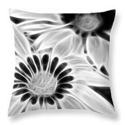 Black And White Florals Throw Pillow