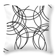 Black And White Hoops Throw Pillow