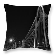 Black And White Hunt-bridge-dallas Throw Pillow