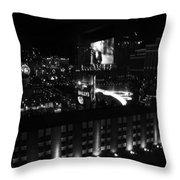 Black And White In Vegas Throw Pillow