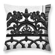 Black And White Ironwork Throw Pillow by Alys Caviness-Gober