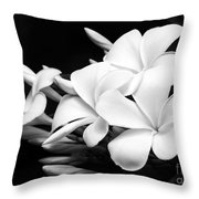 Black And White Lightning Throw Pillow